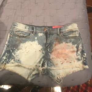 Blank NYC multicolored jean shorts size 28